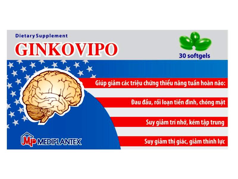 Hình ảnh GINKOVIPO: Tăng Cường Tuần Hoàn Não, Tuần Hoàn Ngoại Vi