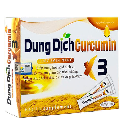 Hình ảnhCurcumin X3: Hỗ trợ trung hòa acid dịch vị