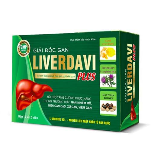 Hình ảnhLiverdavi Plus, viên uống thanh nhiệt, mát gan