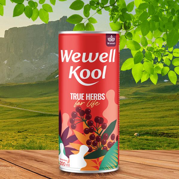 Hình ảnhWewell Kool: Nước giải nhiệt, mát gan thảo dược