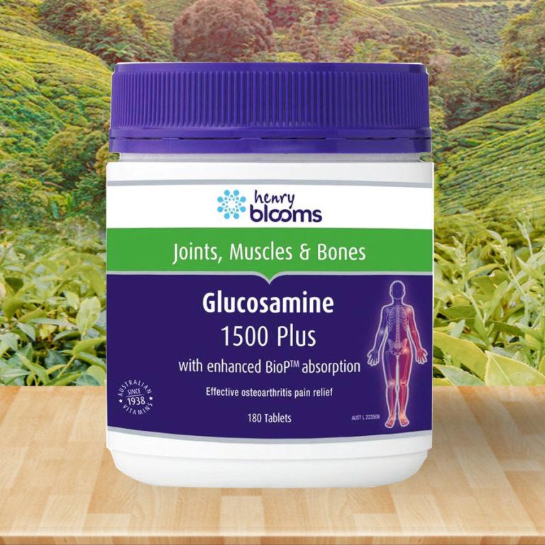 Hình ảnhHenry Blooms Glucosamine 1500 Plus: Viên bổ khớp của Úc