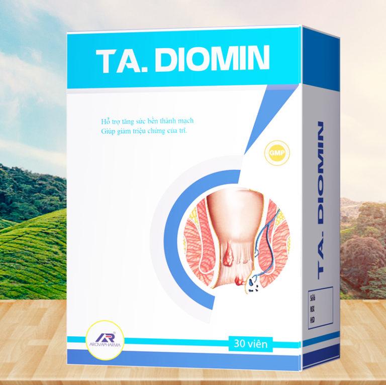 Hình ảnhTA. Diomin: Viên uống giảm triệu chứng trĩ