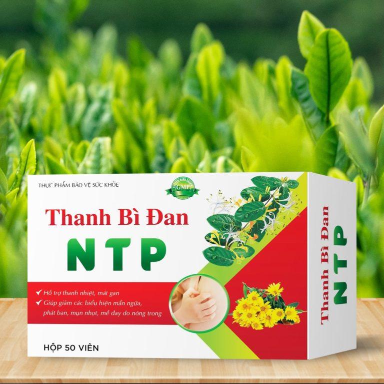 Hình ảnhTHANH BÌ ĐAN NTP: Thanh nhiệt giải độc gan