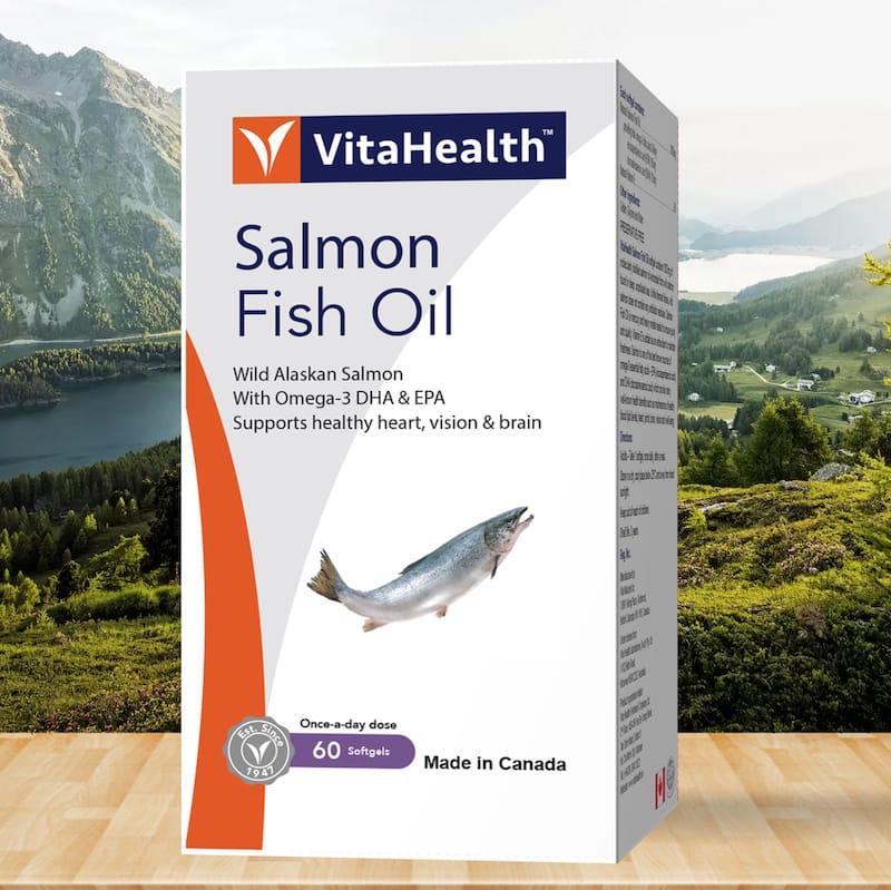 Hình ảnh Viên dầu cá hồi VitaHealth Salmon Fish Oil