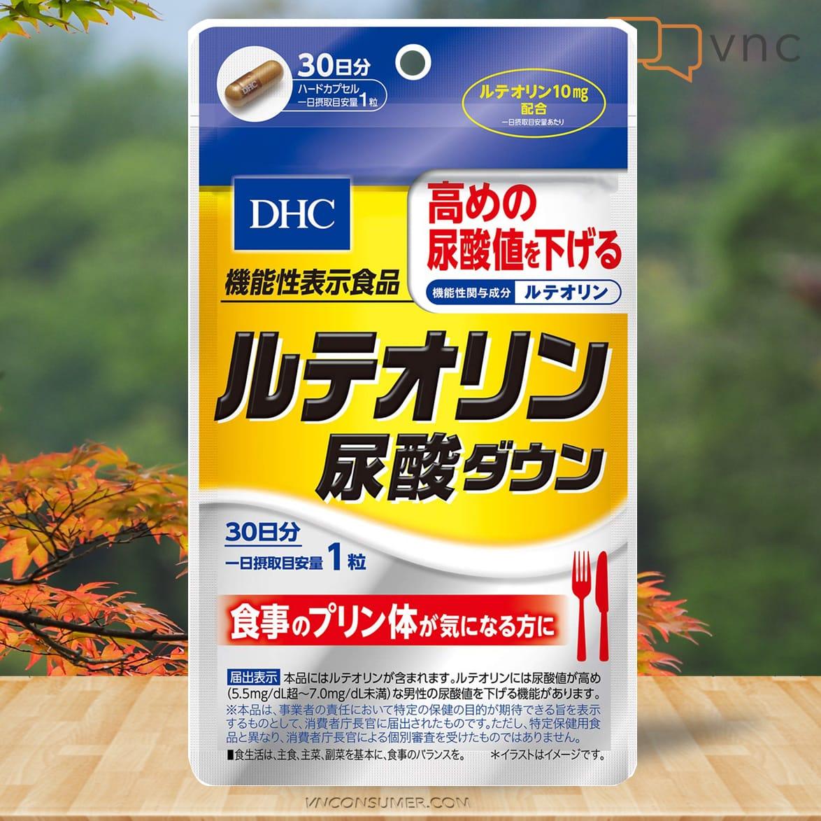 Hình ảnh Viên gout Nhật DHC Luteolin Uric Acid Down